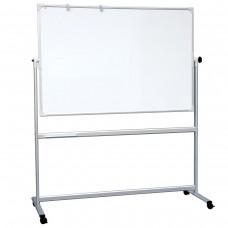 Доска магнитно-маркерная 2х3 - Office, 90x120 см, двусторонняя, на стенде, держатели для бумаги