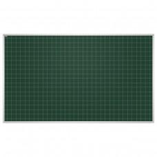 Доска для мела магнитная 2х3 - Education, 85x100 см, зеленая, в клетку, алюминиевая рамка