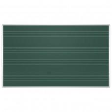Доска для мела магнитная 2х3 - Education, 85x100 см, зеленая, под ноты, алюминиевая рамка