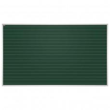 Доска для мела магнитная 2х3 - Education, 100x170 см, зеленая, в линию, алюминиевая рамка
