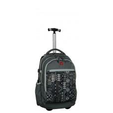 Рюкзак на колесах Take It Easy Barselona - Ацтеки серый