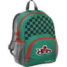 Рюкзак детский Step By Step Junior Dressy little racer зеленый/серый