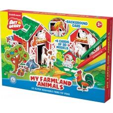 Игровой 3D пазл для раскрашивания Artberry My Farmland Animals фломастеры 10 цветов