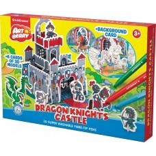 Игровой 3D пазл для раскрашивания Artberry Dragon Knights Castle фломастеры 10 цветов