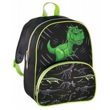 Рюкзак детский Hama Dino черный/зеленый (139099)