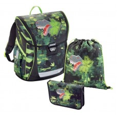 Ранец BaggyMax Fabby - Green Dino, с наполнением (430099]