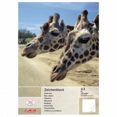 Альбом для рисования Herlitz А3 10 листов, жирафы