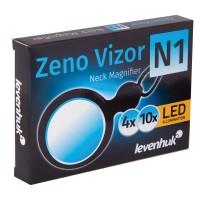 Лупа Levenhuk Zeno Vizor N1, увеличение х4/х10, диаметр линз 12/46 мм, нашейная, пластик