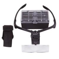 Лупа-очки Levenhuk Zeno Vizor G3, увеличение х1-х3,5, набор из 5 линз 84х28 мм, подсветка