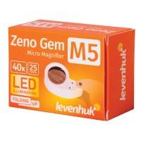 Лупа Levenhuk Zeno Gem M5, увеличение х40, диаметр линзы 25 мм, подсветка, складная, металл, 70436