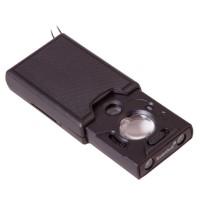 Лупа Levenhuk Zeno Gem M13, увеличение х30/х45-60, диаметр линз 20/9 мм, LED и УФ-подсветка