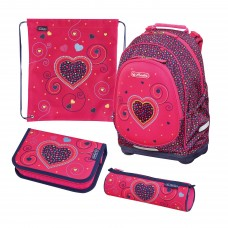 Рюкзак Herlitz Bliss Pink Hearts с наполнением