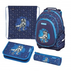 Рюкзак Herlitz Bliss Blue Dino с наполнением