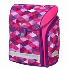Ранец школьный Herlitz New Midi Pink Cubes без наполнения