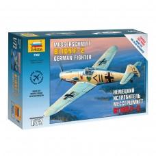 Модель для сборки Звезда - Самолет. Истребитель немецкий BF-109 F2 Мессершмитт, 1:72