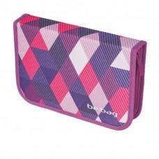 Пенал Herlitz Be.Bag Cube Purple Checked, 25 предметов