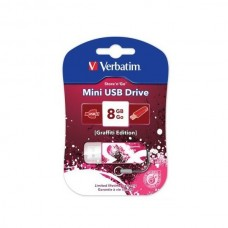Флеш Диск Verbatim 8Gb Store n Go Mini Graffiti 98165 USB2.0 красный/рисунок