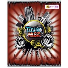 Тетрадь MagTaller А5 48 листов клетка, techno music