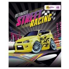 Тетрадь MagTaller А5 48 листов клетка, Street racing - желтая машина