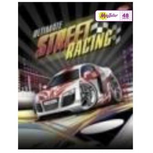 Тетрадь MagTaller А5 48 листов клетка, Street racing - белая машина