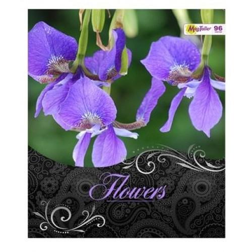 Тетрадь MagTaller А5 48 листов клетка, Flowers - Ирис