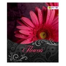 Тетрадь MagTaller А5 48 листов клетка, Flowers - Хризантема