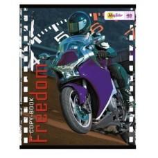 Тетрадь MagTaller А5 48 листов клетка, Moto-4