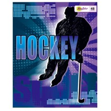 Тетрадь MagTaller А5 48 листов клетка, Hockey