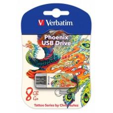 Флеш Диск Verbatim 8Gb Store n Go Mini Tattoo Phoenix