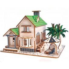 3D деревянный пазл - Дом