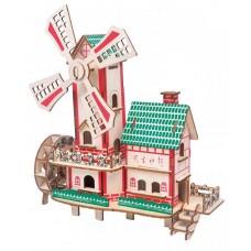 3D деревянный пазл - Мулен-Руж