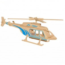 3D деревянный пазл - Вертолет
