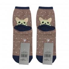 Носки женские AnimalWorld - Собачка, синие/серые