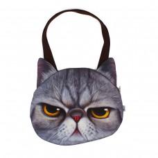 Сумка Женская AnimalWorld Кошка Персидкая темно-серая