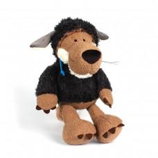 Игрушка мягкая AnimalWorld - Wolf - Волк в овечьей шкуре, черный, 35 см