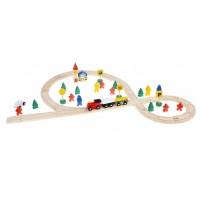 Деревянная железная дорога, 48 деталей
