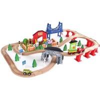 Деревянная железная дорога, 82 детали