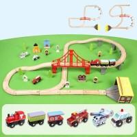 Деревянная железная дорога, 70 деталей