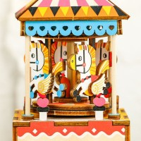 3D деревянный пазл Музыкальная шкатулка Карусель
