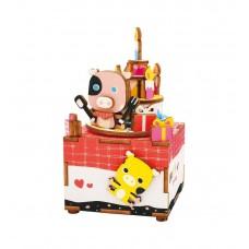 3D деревянный пазл Музыкальная шкатулка День Рождения
