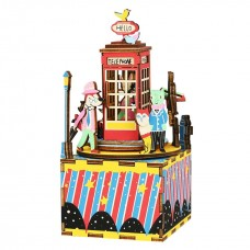 3D деревянный пазл Музыкальная шкатулка Телефонная будка