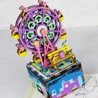 3D деревянный пазл Музыкальная шкатулка Колесо обозрения