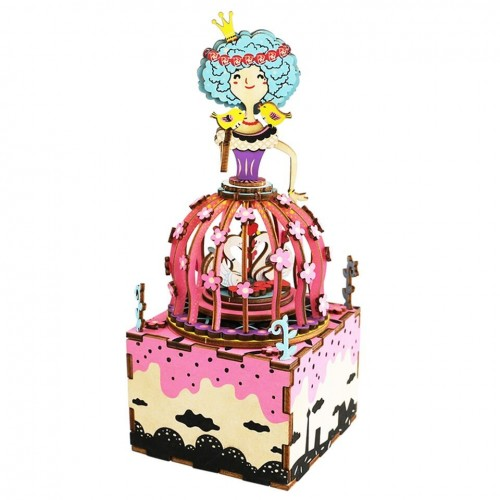 3D деревянный пазл Музыкальная шкатулка Принцесса