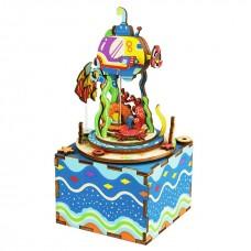 3D деревянный пазл Музыкальная шкатулка Подводный мир