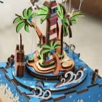 3D деревянный пазл Музыкальная шкатулка Музыкальный остров