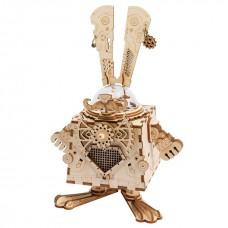 3D деревянный пазл Robotime Музыкальная шкатулка Заяц