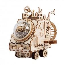 3D деревянный пазл Robotime Музыкальная шкатулка Космический корабль