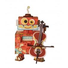 3D деревянный пазл Robotime Музыкальная шкатулка Юный музыкант