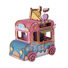 3D деревянный пазл Robotime Музыкальная шкатулка Автобус