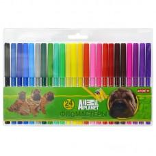 Набор фломастеров Action - Animal Planet, 24 цвета